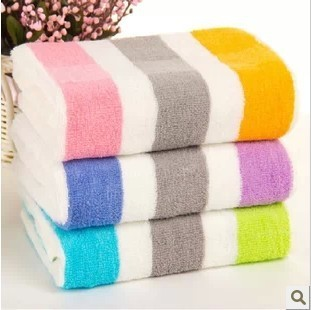 Free Shipping, 10pcs/Lot 100% Cotton Face Towel 72X34CM 100g ,3 Colors , cheap and good quality from factory