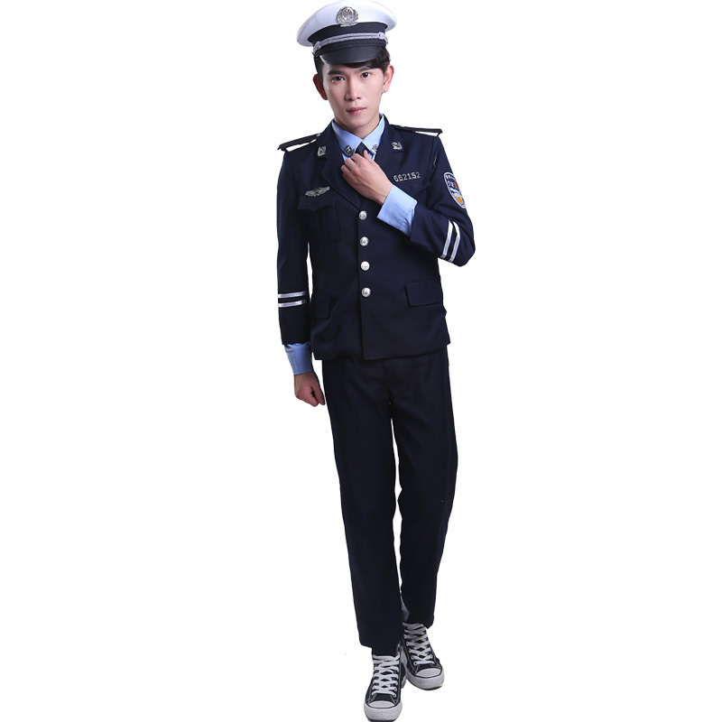 traffic police costumes for children police uniform chinese police uniform police officer clothing military costumes(China (Mainland))