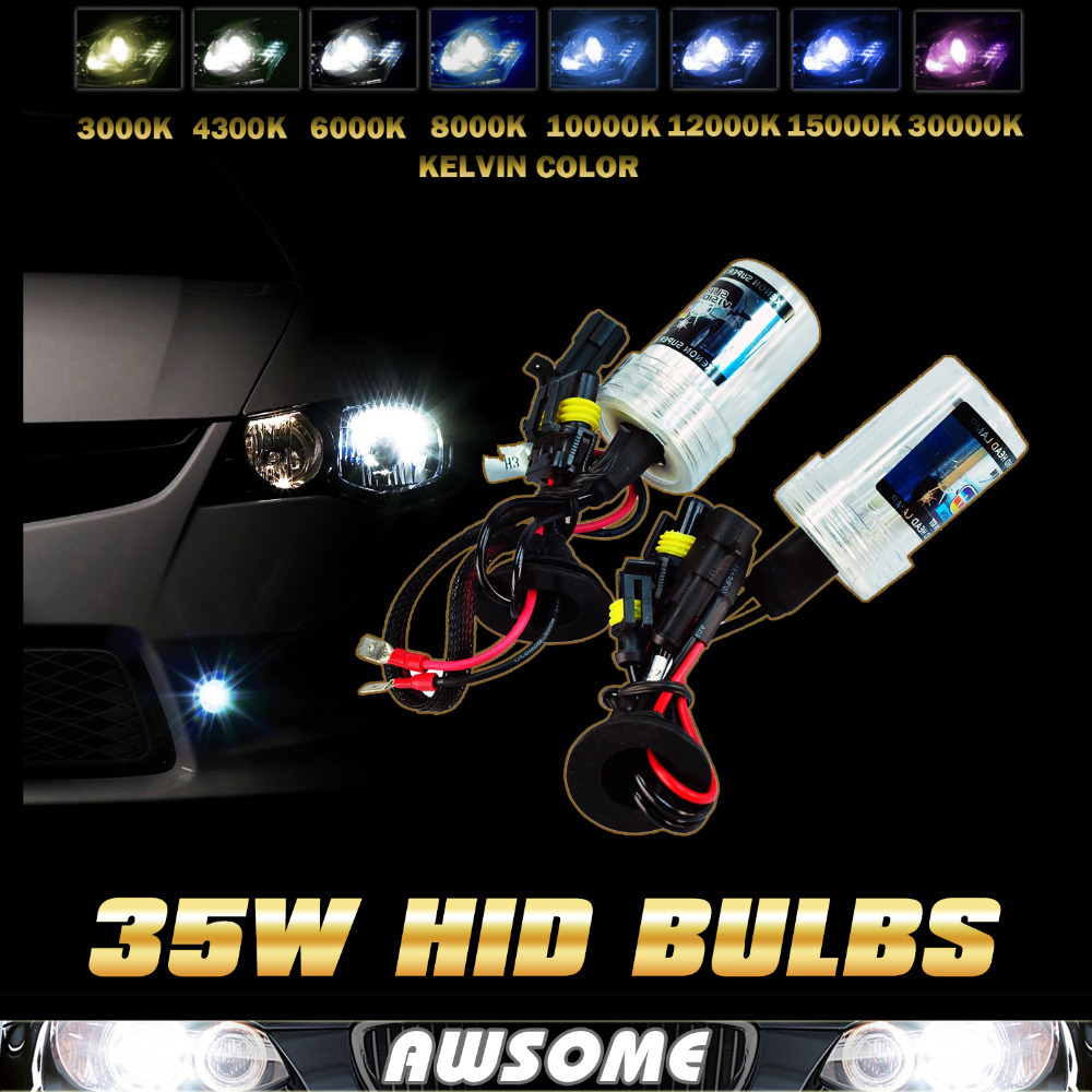 35W Xenon HID Bulb H1 H3 H7 H8/9/11 H10 9005 9006 Replacement Bulbs Single Beam Purple Pink Deep Blue Green Car LED Headlight(China (Mainland))