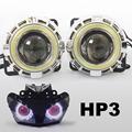 KT Headlight Suitable for Honda CBR500R 2013 2015 LED Angel Eyes Red Demon Eyes Motorcycle HID