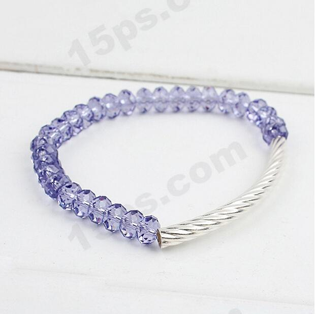2015 New Trend crystal evil eye bracelet Shine 925 sterling silver child gift - Bear watch store