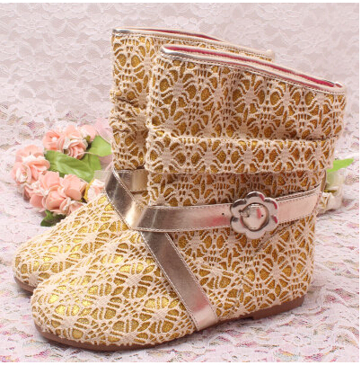 Gold Boots For Girls For Princess Girls Gold