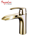 High Quality Solid Brass Unique Patented Style Single Hole Faucet Polish Gold Bathroom Small Basin Tap