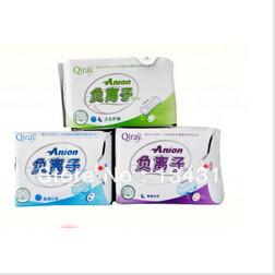 Lovemoon/Qiray Anion Sanitary napkin,Sanitary towels. pads,Sanitary pads Panty liners 19 packages/lot(China (Mainland))