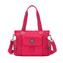 Buy Fashion Women Handbag High ZIpper Solid Waterproof Nylon Messenger Bag casual Shoulder tote Bolsas femininas monkey for $15.69 in AliExpress store