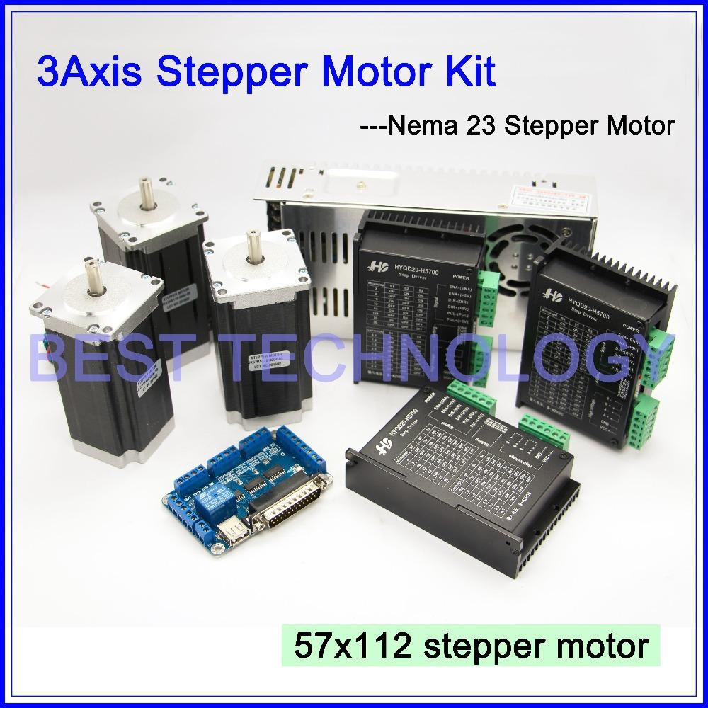 3axis Cnc Controller Kit 3pcs Nema23 Cnc Stepper Motor