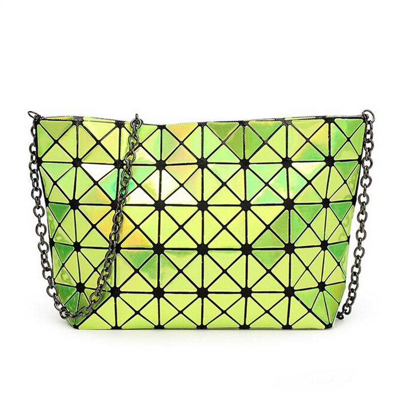 Brand Design Pearl Starry sky Pattern Fold Over Diamond Lattice Handbag Diamond Lattice Patent Leather Metal Chain Shoulder Bag<br><br>Aliexpress