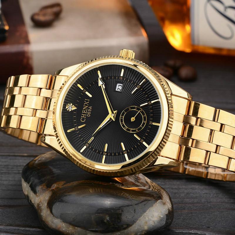 top fashion brand luxury chenxi watches gold quartz