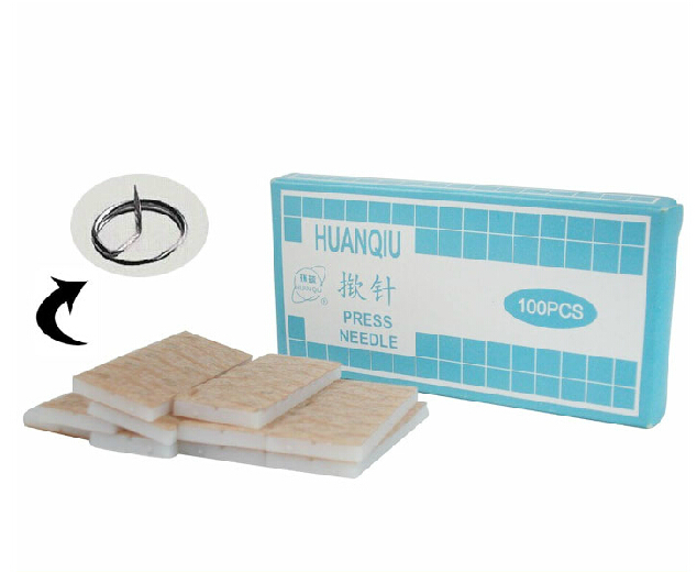 free shipping ear acupuncture needle sterile disposable needles embedded ear needle ear press seed 100pcs/box