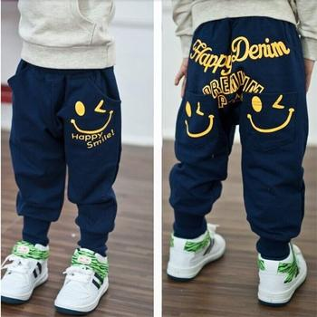 Retail 2016 New spring autumn cotton kids pants Boys Girls Casual Pants 2 Colors Kids Sports trousers Harem pants Hot Sale