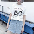 Camisetas Mujer 2016 Summer Fashion Blusas Korea Ulzzang Fun Spoof Harajuku Women O neck T Shirt