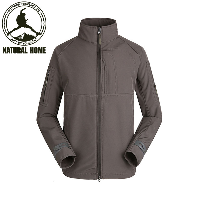 [NaturalHome] Brand Military Man Fleece Tactical Softshell Jacket Outdoor Thermal Sport Hiking Hooded Outerwear Army Clothes(China (Mainland))