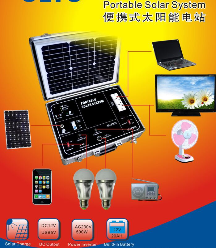 solar system ,500w,mobile power station,2 way for charge,AC or Solar,discount ship cost.(China (Mainland))