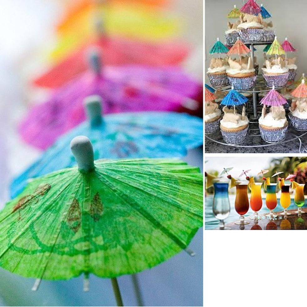 30 Pieces Retro Mixed Color Mini Paper Umbrellas for Cake Drinks Accessories Cocktail Event Party Supplies Cheap(China (Mainland))