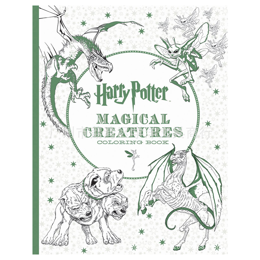 96 Pages Harry Potter Coloring Book For Adults Secret Garden Book Series Libros Para Colorear