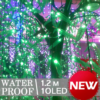 10 Heads Green Leaves LED Light 1.2m Party Wedding Yard Xmas Hotel Decoration L018