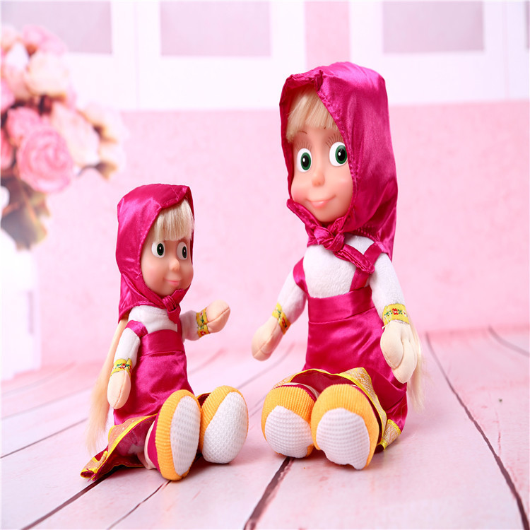 Masha And Bear Russian Language Electronic Pets Talking Musical Dolls Masha e Orso Stuffed Plush Toys Baby Doll Gift For Kids(China (Mainland))
