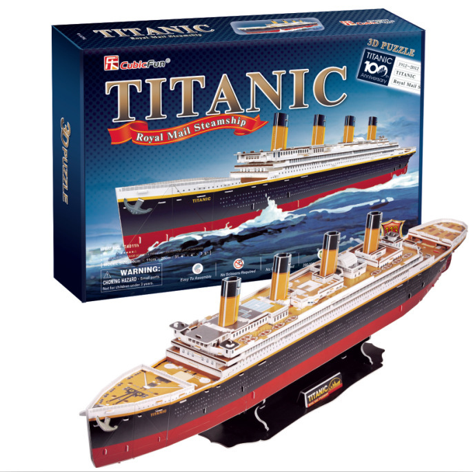 3D DIY boat model kits Puzzles Titanic ship Paper Model kids Creative gifts Children Educational toys Deluxe edition child toys(China (Mainland))
