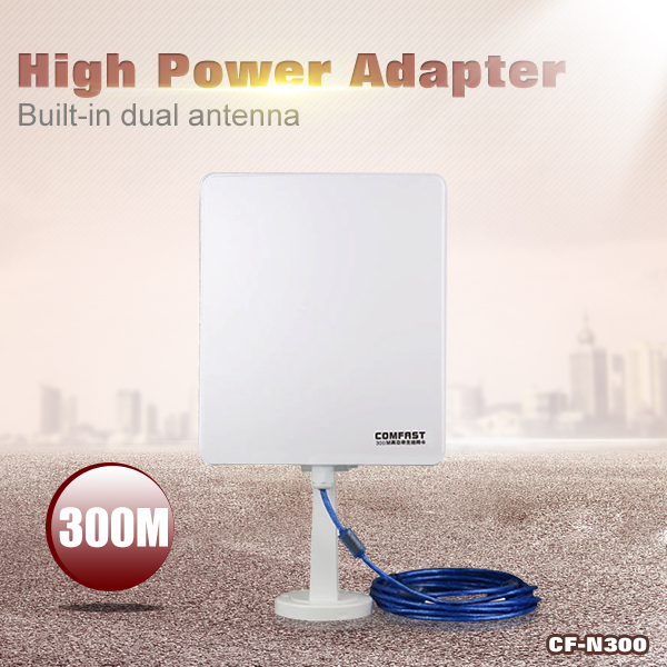 High quality Comfast CF-N300 Usb wireless wifi adapter long range wifi adapter high power wifi antenna + free shipping(China (Mainland))