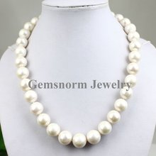 """AAA Shining 17"""" Beautiful Rare 12-13mm Large Size Perfect Round Freshwater Pearls Necklace Free Shipping(China (Mainland))"""