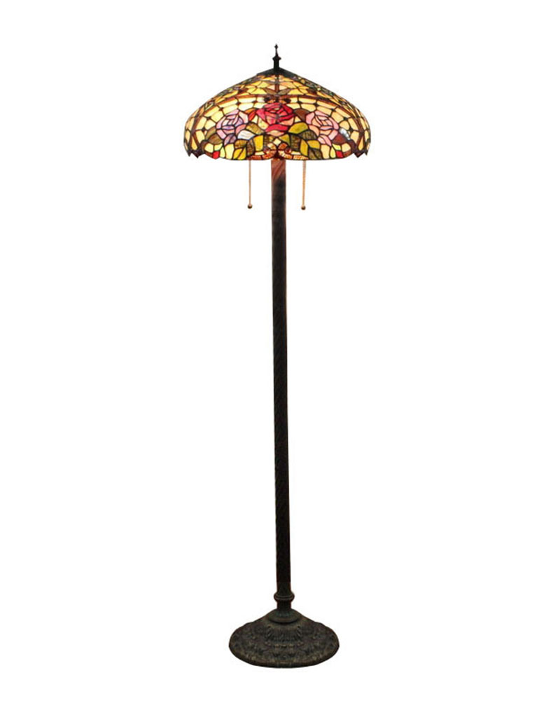 Ems Free Tiffany Art Floor Lamp In Bedroom Or Living Room