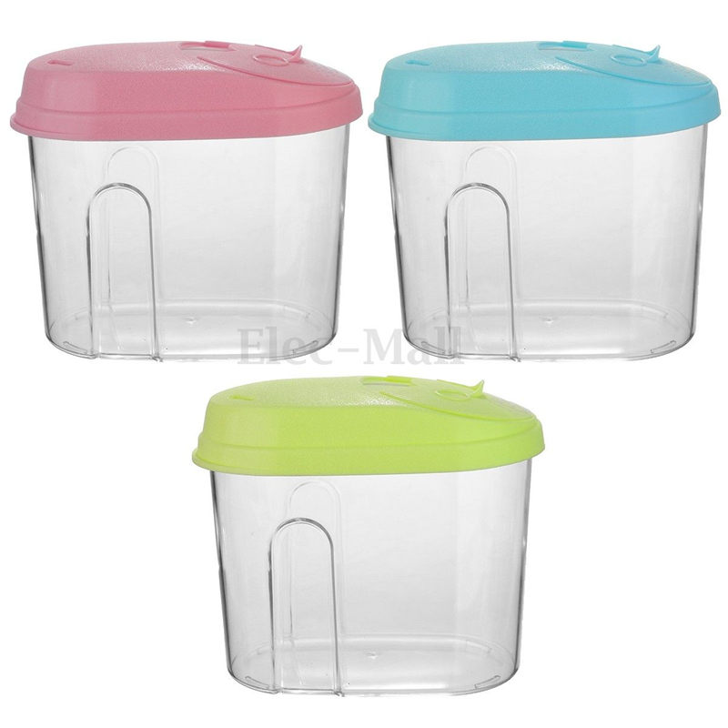 New Arrival Durable PP Food Cereal Rice Container Storage Store Box Kitchen Tool 0.5L/1.L/2L Pink/Blue/Green(China (Mainland))