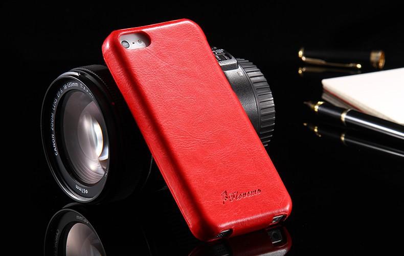 הגעה חדשה רטרו יוקרתי מתקפל מקרה עבור Iphone 5 5S 5G עור PU כיסוי האופנה Deluxe סוס משוגע חינם סרט מסך HLC008