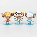 new 8cm One Piece POP Figuarts ZERO One Piece Chopper cos play Cat Doraemon cows action