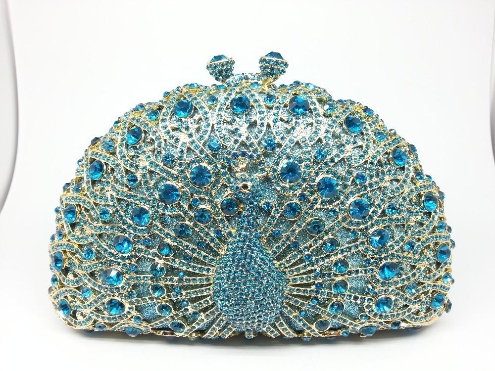 Vintage Peacock Crystal Bags Hard Case Metal minaudiere Women Party Rhinestones Evening Bag For Wedding Bolsos de Mano Mujer<br><br>Aliexpress