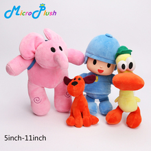4pcs/set Pocoyo Baby Kids Soft Plush Toys Doll Yoyo Pato Loula Dolls for Boys and Girls(China (Mainland))