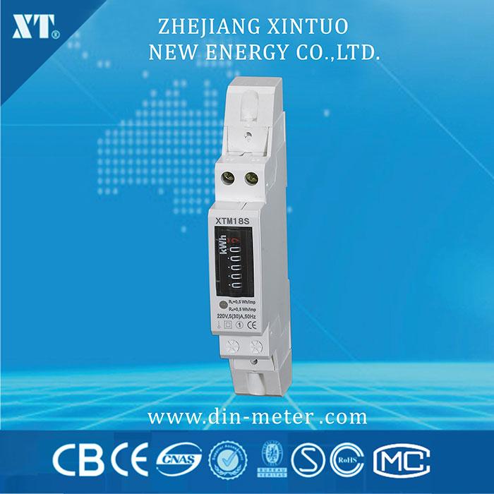 5(32)A 230V 50HZ Single phase Din rail KWH Watt hour din-rail energy meter LCD Counter Digital Wattmeter(China (Mainland))