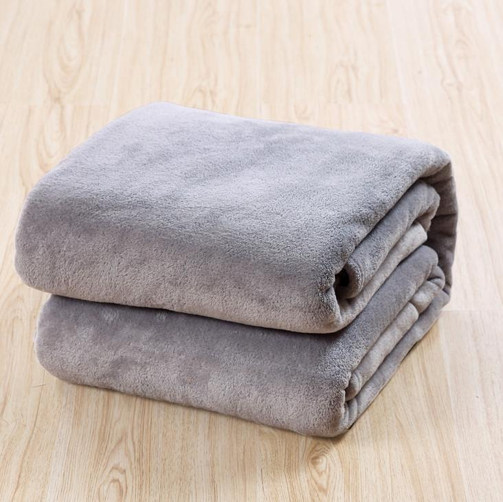 150 200cm 16colors fleece blanket on sofa air bed for Cobertor para sofa