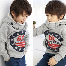 2015 Promotion children's winter sets Boys Hoodies Long Sleeve winter Hoodies kids coat Tops Children Coat 2-6yrs Free Shipping(China (Mainland))