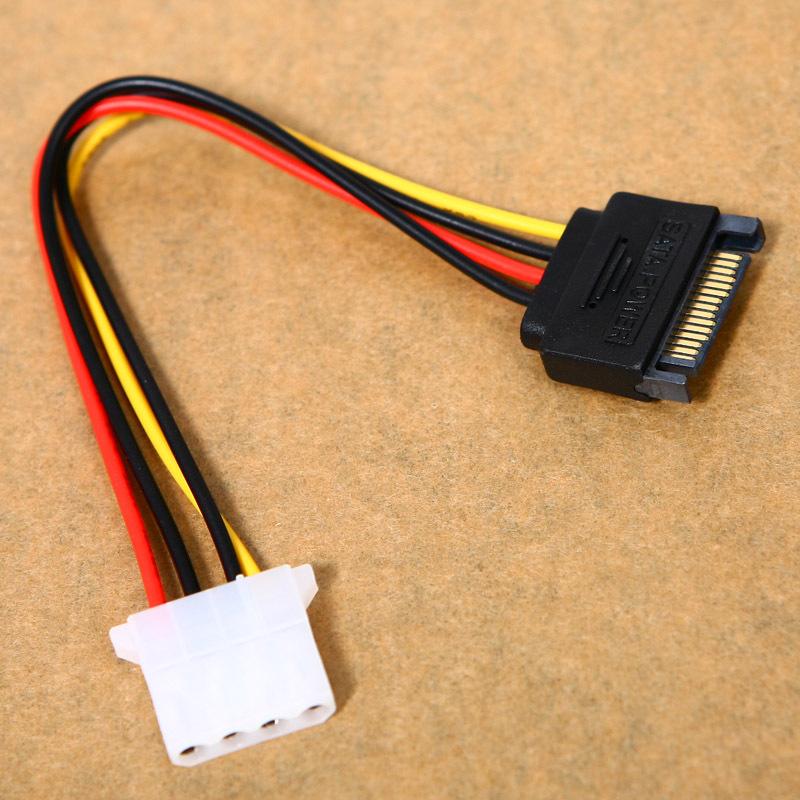 Hot Sale 4 Pin IDE Molex Male to 15 Pin Serial ATA SATA Hard Drive Adapter Power Cable Free Shipping #L01561(China (Mainland))