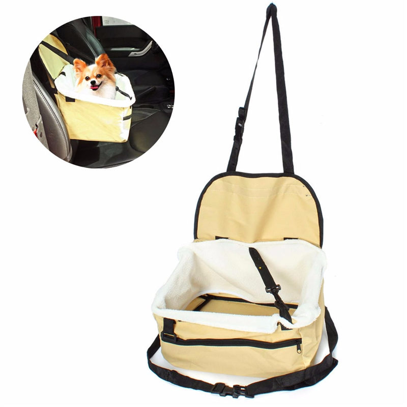 Fashion Useful Portable Pet Soft Car Booster Seat Soft Safety Dog Cat Puppy Carrier Cage Travel Tote Bag Basket Luggage(China (Mainland))