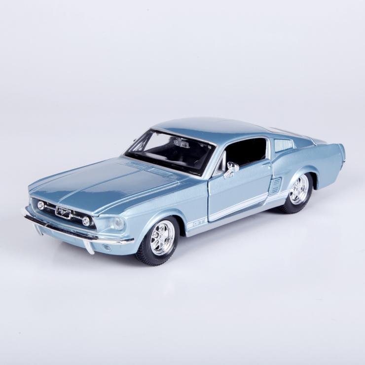 1:24 1967 Ford Mustang GT/ simulation alloy model cars(China (Mainland))