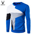 Men s Fashion Sportswear Patchwork Casual Sweatshirt Men Slim Fit Brand Hoodies European Style Leisure chandal