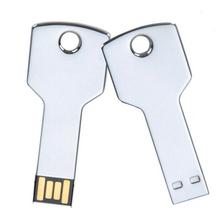 Hot wholesales waterproof usb 2.0 metal selver keys model memory stick flash pen drive 1GB-32GB big order can print logo (China (Mainland))