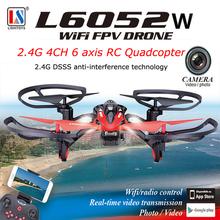 Free shipping!Lishitoys L6052W WiFi FPV 2.4Ghz 6CH 6 Axis RC Quadcopter Drone W/ HD Camera RTF
