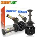 CNSUNNYLIGHT H7 Led High Power Bulb 60W 7200lm No Error 3000K 4300K 6000K Bright Car Headlight