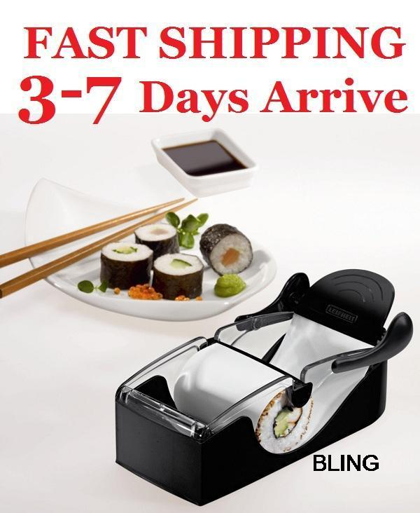 48set/lot Sushi Maker Roller Molds Machine Bakeware Cooking Tools Free TNT Fedex Shipping Retail Pkg - 3-7 Days Arrive Store store