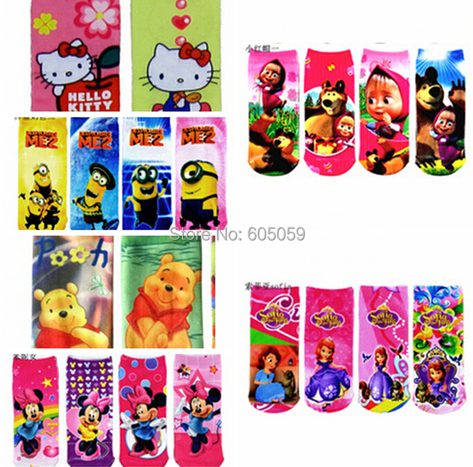 6 to 14 years one size polyester cartoon despicable me Masha and bear girls Children s