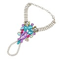 3 Colors Fashion Women Finger Bracelet Pulseras Silver Bohemian Gypsy Beach Charm Handle Gem Crystal Hand