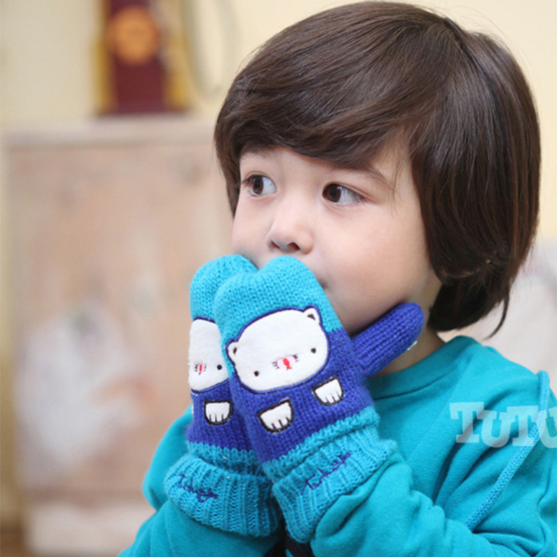 High Quality!!New Mixing 3 Types Baby Mittens Baby Winter Gloves Warmer Knit Baby Gloves Child  manoplas bebe Free Shipping(China (Mainland))