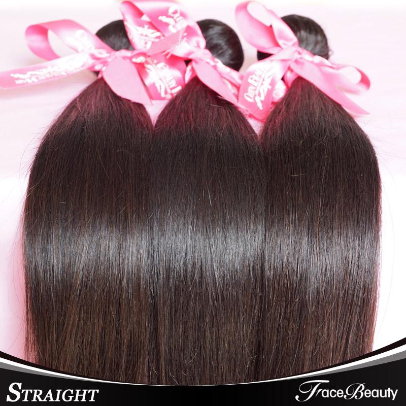 FaceBeauty Hair Products Brazilian Virgin Hair Straight 3 Bundles 7a 100% Unprocessed Brazillian Virgin Hair Black Friday Deals(China (Mainland))