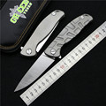Green thorn F95 Flipper folding knife bearing S35VN blade TC4 Titanium handle outdoor camping hunt pocket