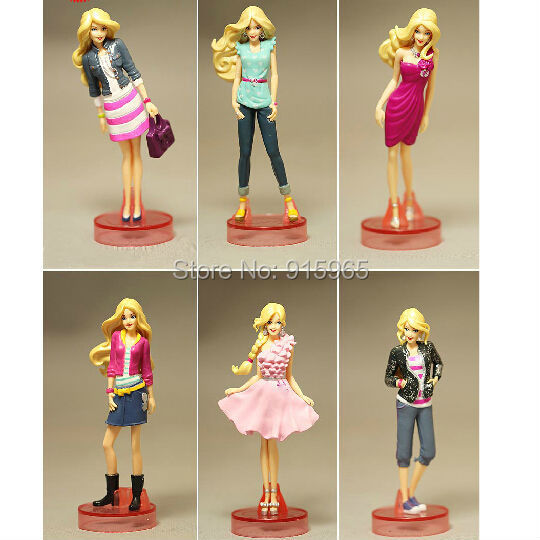 Free Shipping 6 pieces/set fashion princess doll Toys Doll Figure bulk packing model gift for kids(China (Mainland))