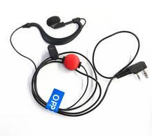 OPPXUN Two Way Radio Accessories 2 Pin PTT MIC Earpiece for KENWOOD Radio  PUXING HYT TYT BAOFENG UV5R 888S