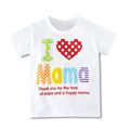 Wholesale Children Stylish Boys Girls T Shirt Summer Tops I Love Pa Pa Ma Ma Series