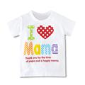 Wholesale Children Stylish Boys Girls T Shirt Summer Tops I Love Pa Pa Ma Ma Series